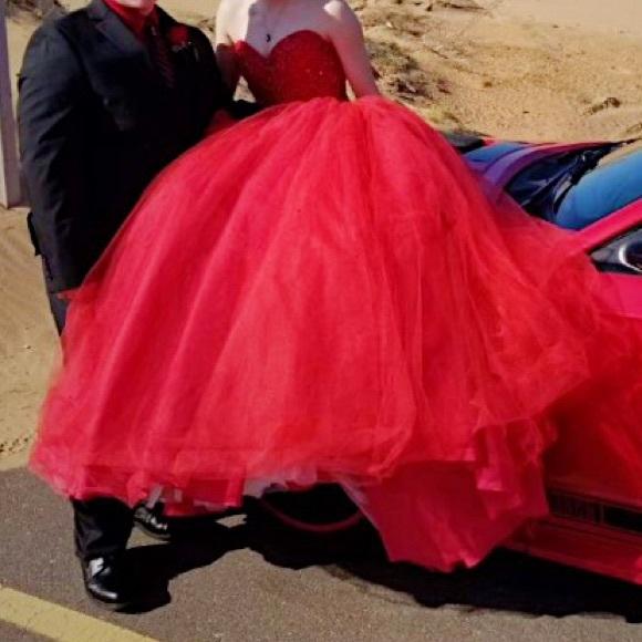 Mori Lee Dresses & Skirts - Red Mori Lee Junior Prom Dress